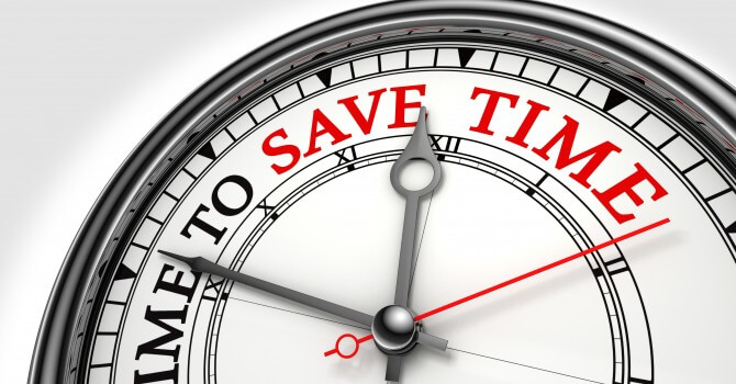 Time to save time concept clock, save time with marketing automation